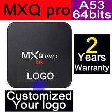 10pcs MXQpro Customized 2 years warranty 1GB/8GB KODI Amlogic S905 A53 64bits processor Smart Google Android TV boxes IPTV