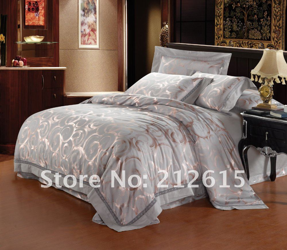 Christmas sale silver comforter set/ full&king size quilt ...