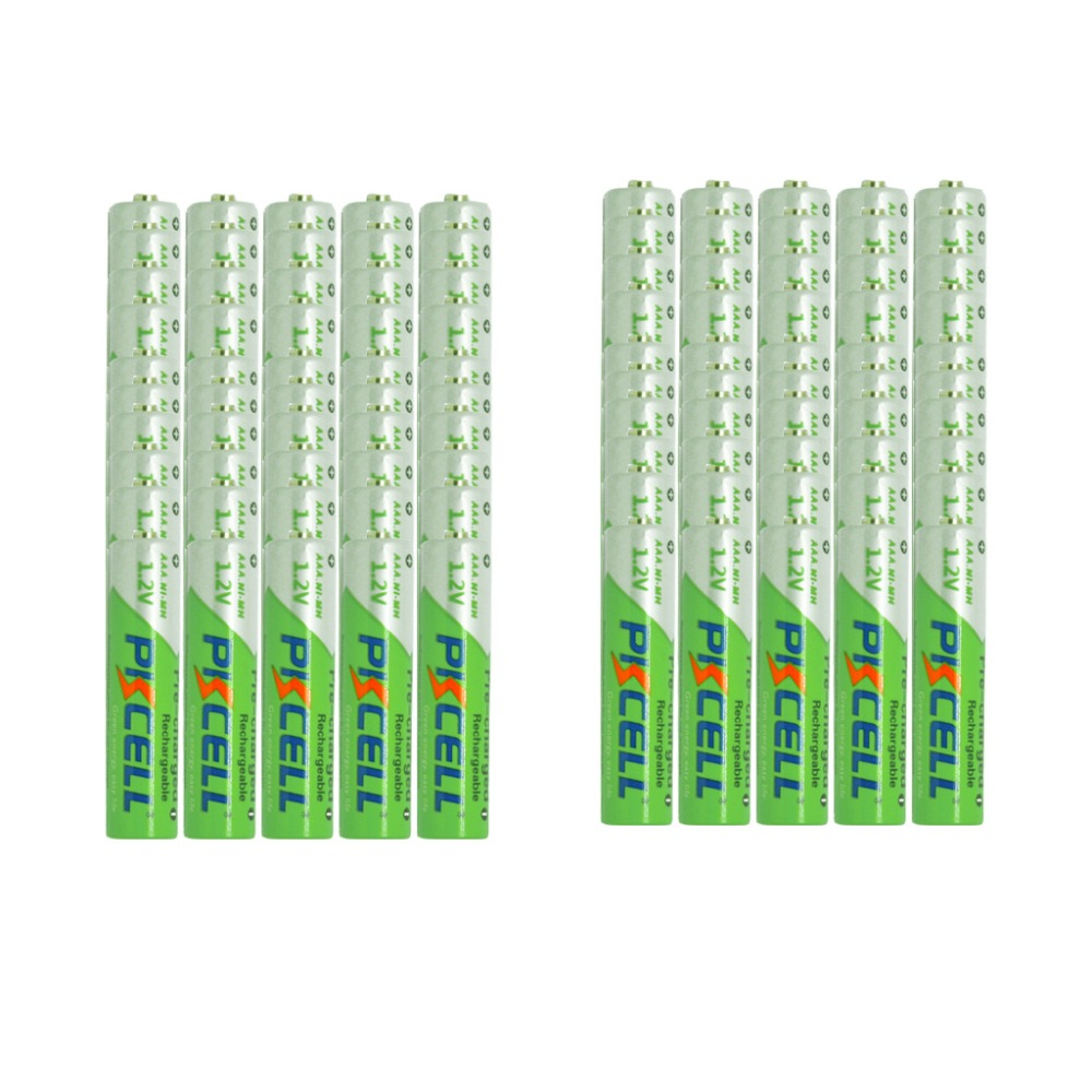 100Pcs AAA 850mAh 1.2V  Low self-discharge  Rechargeable Ni-MH  Battery<br><br>Aliexpress