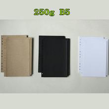 250g B5 9 holes black kraft white vintage photo paper(China (Mainland))