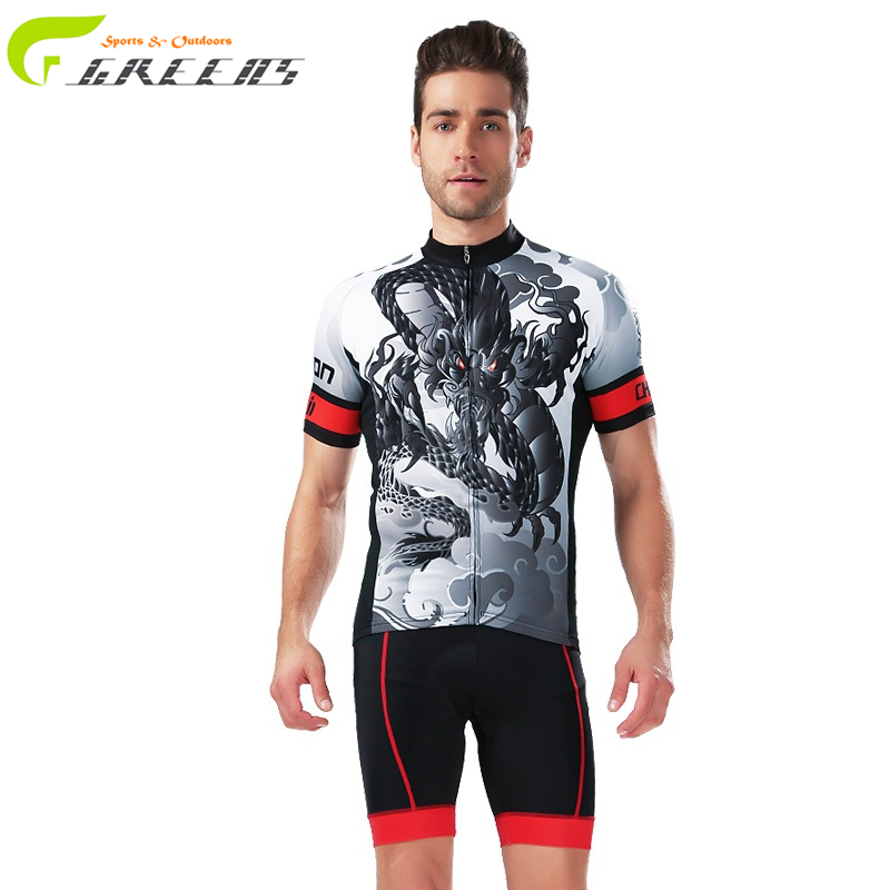 Bicycle Sport Wear Mountain Bike Clothing Set Greens Maillot Cycling Jersey For Men Breathable Racing Bicycle Cycling Clothing(China (Mainland))
