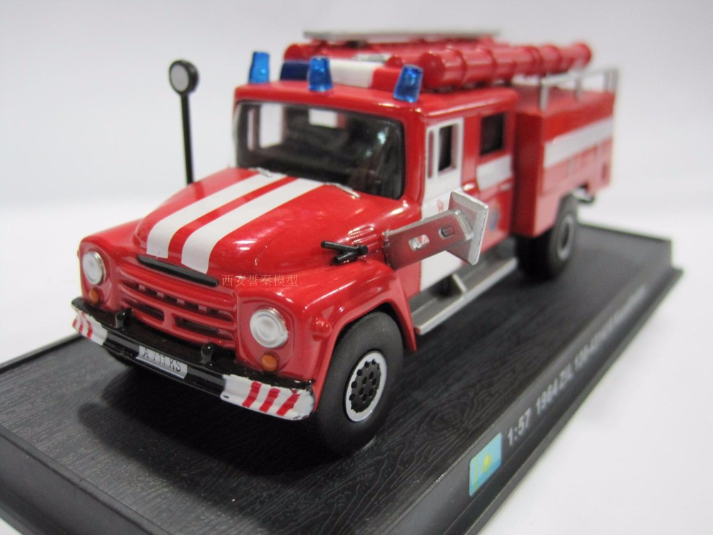 New 1:57 Scale Fire Truck Models 1964 ZiL 130-431410 Kazakhstan Diecast Fire Trucks Car Toys Vehicles Collection(China (Mainland))