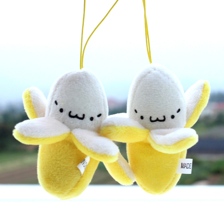 Cute Cell Phone Strap Charm Mobile Phone Straps/Kawaii Banana Plush Doll Phone Strap Pendant/Cellphone Decoration Accessories(China (Mainland))