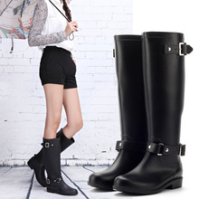 Pvc Women Rain Boots Girls Ladies Rubber Shoes For Casual Walking Hunting Hunter Outdoor Mid-calf Waterproof Female Low Heels(China (Mainland))