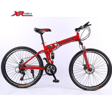 Mens mountain bike 21 speed  bicicleta 26 inch folding bicycle standard double disc bicycle adult bikes red unisex biycles(China (Mainland))