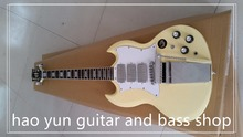 g-400 electric guitar sg guitar New Brand SG style with Long Verson Maestro Vibrola yellow color Deluxe completed(China (Mainland))