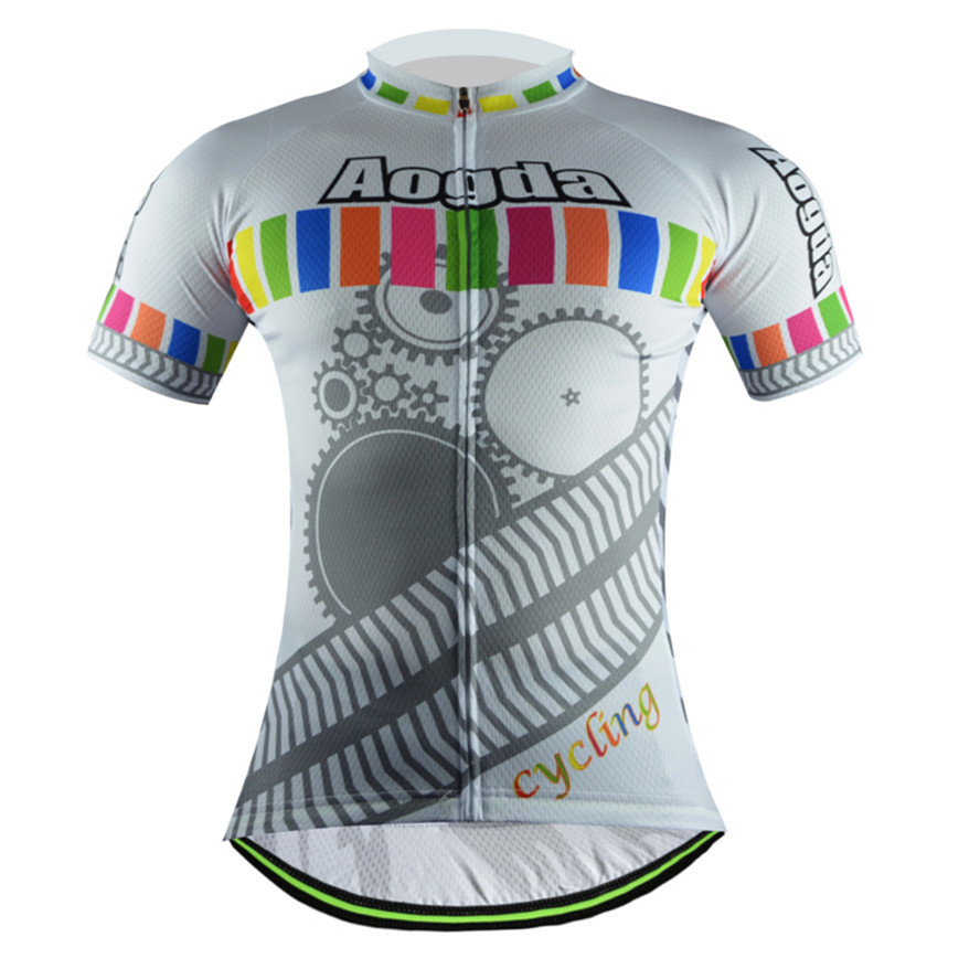 Aogda gear style men's team cycling jersey spandex tops Mayo Ciclismo MTB bicycle sportswear breathable cycling clothing(China (Mainland))