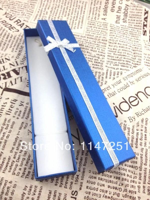 Fashion Jewelry Box ! Wholesale 24pcs/Lot Royal Blue Jewelry Box Necklace/Bracelet Box Gift Packaging Box Free Shipping(China (Mainland))