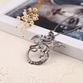 2016 Dragon Jewelry Smaug Status Pendant Necklace Classic Movie Jewelry Black Bead Chain G Dragon Pendant