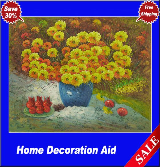 Impressionism Canvas Oil Paintings Flowers Art Work For Home Decoration Hand Painted Retail And