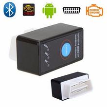 Mini ELM327 V1.5 OBD2 II Bluetooth Car Auto Diagnostic Interface Scanner Tool Black 2016 New High Quality(China (Mainland))