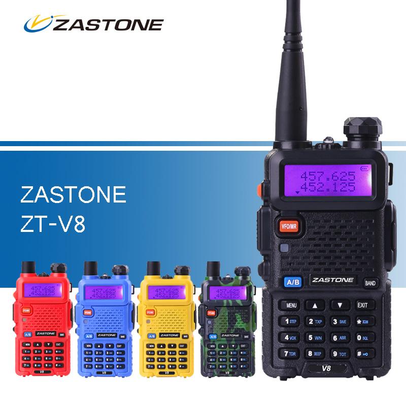 ZASTONE ZT-V8 Walkie Talkie Same as baofeng uv5r Dual Band VHF UHF Two Way CB Ham Radio Transceiver uv-5r Style Walkie Talkies(China (Mainland))