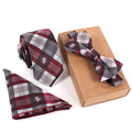 2016 Paisley Polyester Silk Neckties & Handkerchief & Bow Tie Set 6cm Skinny Ties for Men Pocket Square Towel Bowtie Wedding Set