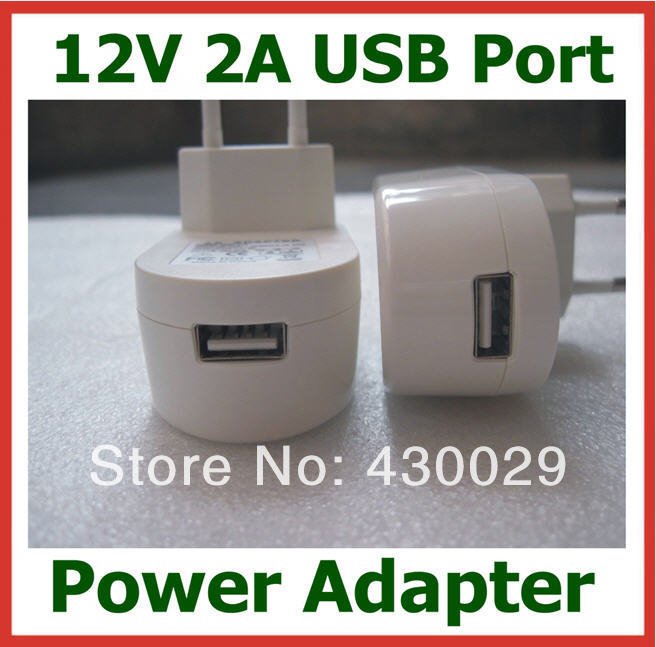 New EU Plug 12V 2A / 2000mA USB Charger for Tablet PC Power Adapter USB Wall Charger Universal Power Supply(China (Mainland))