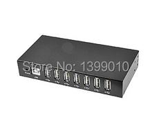 Usb 2.0 скорость 7 разъём(ов) USB hub, Черный 7-ports промышленного usb-концентратор с 15KV оур защита