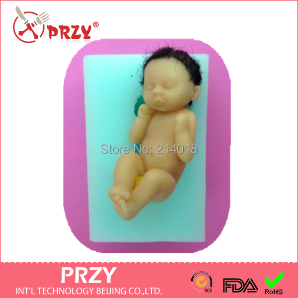 Little Baby PRZY fondant cake decoration silicone mold 3d baby - Int'L Technology Beijing Co.,LTD. store