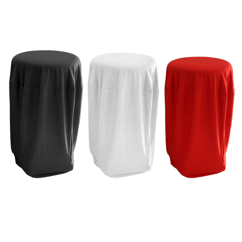 1Piece New 80cm White/Black/Ivory Cocktail Table Cover Spandex Stretch Tablecloth For Bar Bistro Wedding Party Event Decor(China (Mainland))