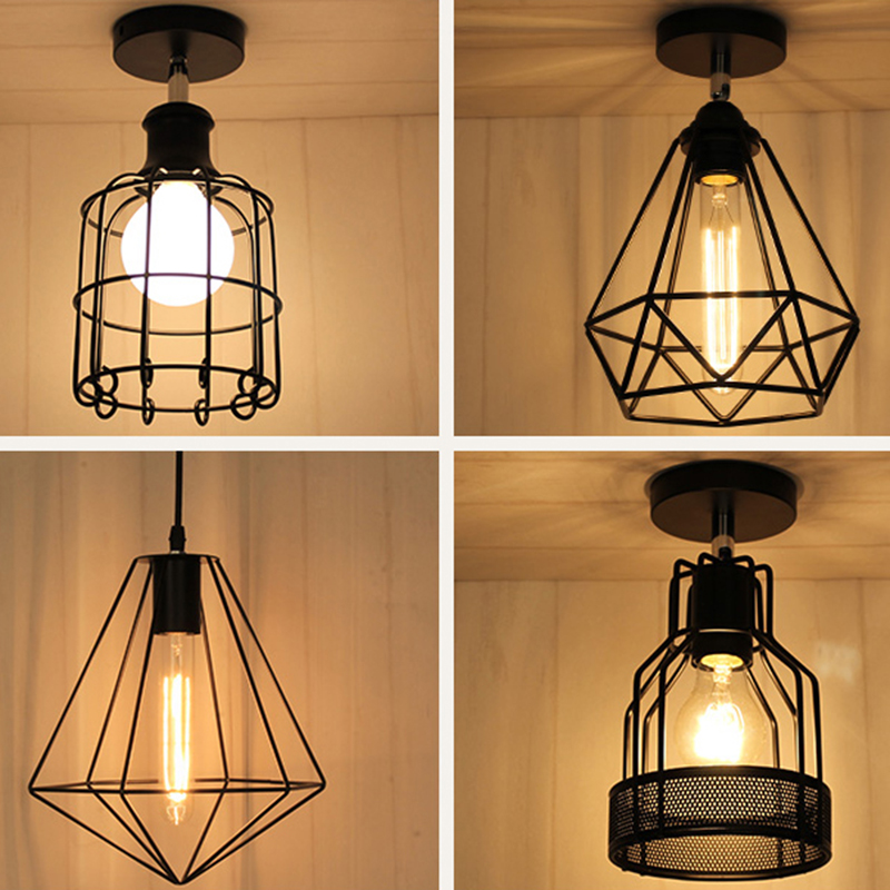 Creative simple iron chandelier ceiling living room bedroom balcony aisle entrance hallway light single head<br><br>Aliexpress