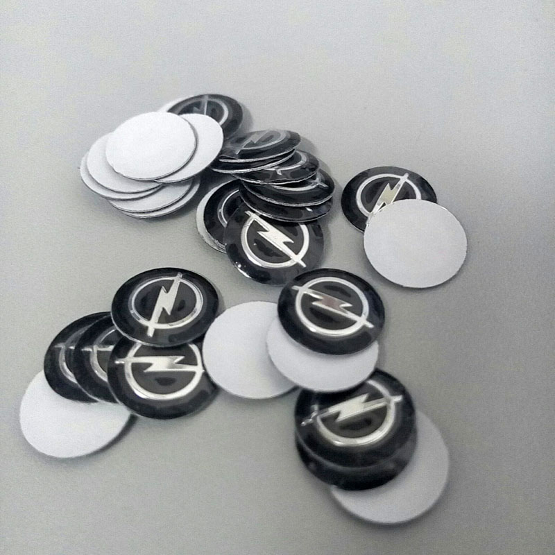 Гаджет  Opel emblem badge logo 14mm Aluminum DIY key loudspeaker box sticker car  accessories None Автомобили и Мотоциклы