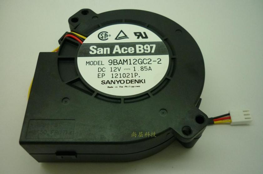 Free Shipping SANYO 9733 9BAM12GC2-2 DC 12V 1.85A 3Wire blower turbo fan Cooling Fan<br><br>Aliexpress