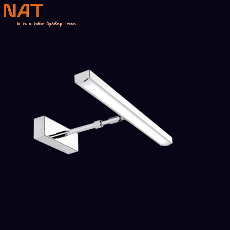 Фотография 7w Acrylic LED bathroom mirror wall mouted indoor home decorative sconces white lampshade LED lighting lamp 100-240v ac