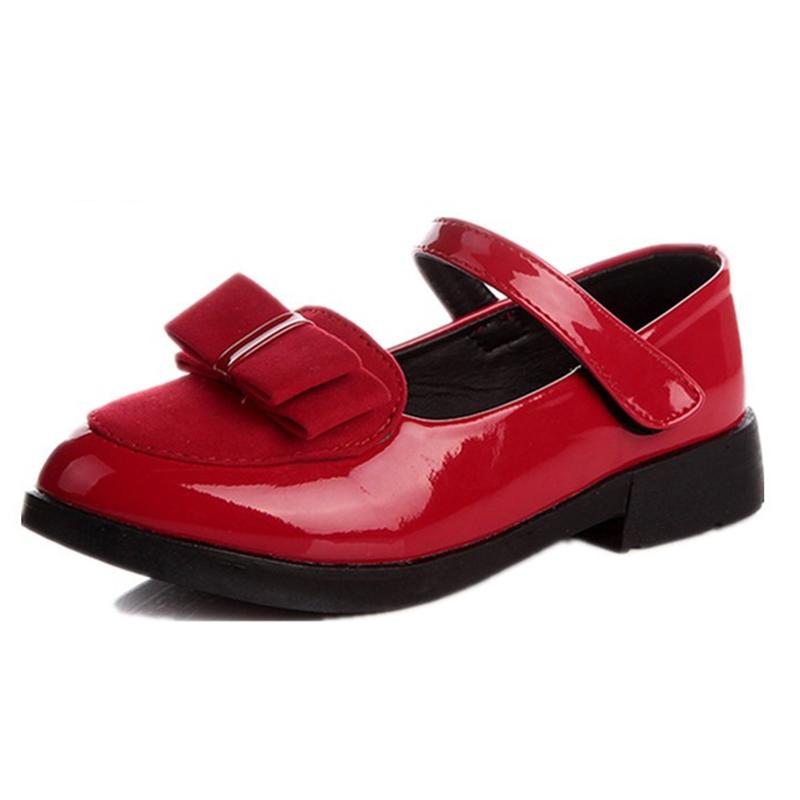 2017 autumn models girls princess shoes bow shoes big virgin solid shoes dance shoes