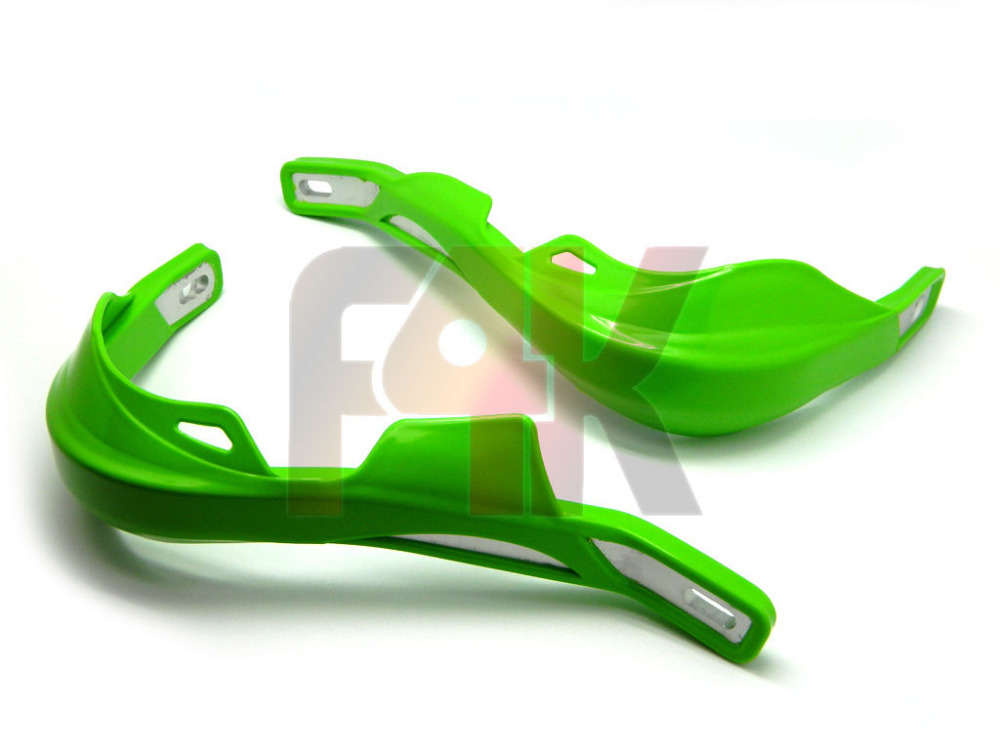 "GREEN DIRT BIKE 7/8"" HANDLEBAR BRUSH Handguards FOR KLX KX KLR 100 110 250 450 freeshipping(China (Mainland))"