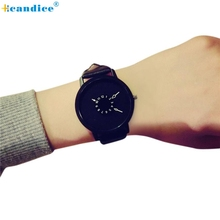 Buy Fashion Lovers Men Women PU Leather Band Quartz Analog Wrist Watch Creative Mar07 for $1.92 in AliExpress store