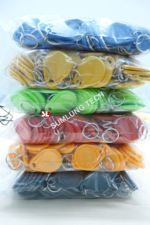 100pcs/lot RFID 13.56MHz ISO14443A MF1chip Smart IC Key Tags NFC Token Keyfob with Chain IN STOCK(China (Mainland))