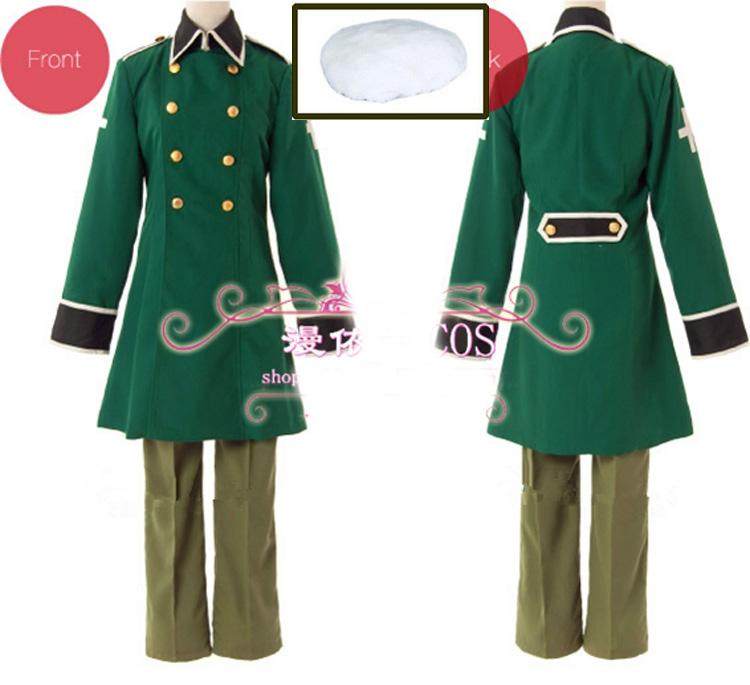 APH Axis Powers Hetalia Switzerland Cosplay Costume Size
