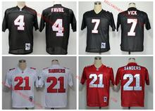 100% Stitiched,Atlanta /s,Deion Sanders,brett favre,Vick,Throwback for men camouflage(China (Mainland))