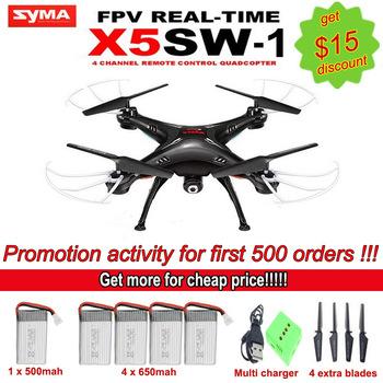 Syma X5SW / X5SW-1 WIFI беспилотный Quadcopter с FPV камеры без головы 6-Axis в режиме реального времени вертолет четырехъядерный-вертолете игрушки