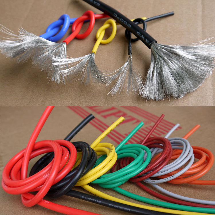 30AWG Flexible Silicone Wire Cable Soft High Temperature Tinned copper UL VW-1(China (Mainland))