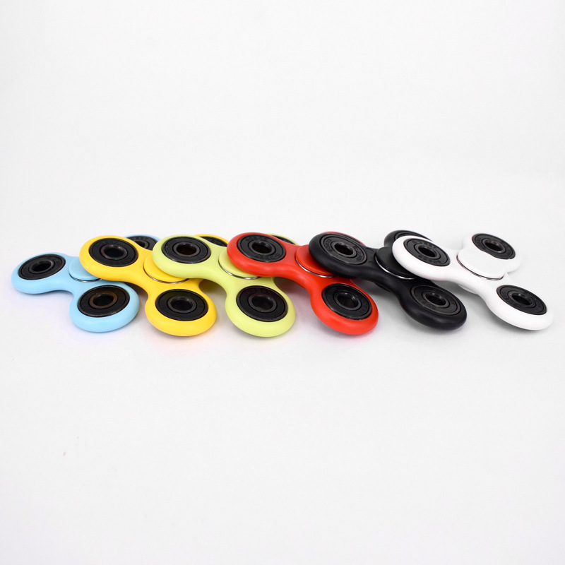9 Colors Tri-Spinner Fidget Toy slide puzzle toy Plastic EDC Hand Spinner For Autism and ADHD Anxiety Stress Relief Focus Toys