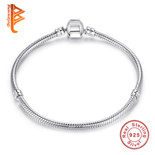 Buy 100% 925 Sterling Silver Snake Chain Charm Beads Fit Original Bracelet Charm Women Authentic Jewelry Pulseira Gift for $28.39 in AliExpress store