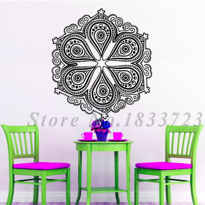 Creative Popular Mandalas Pattern Wall Stickers Indian Style Home Decor Art Wall Decals Vinyl Home Murals(China (Mainland))