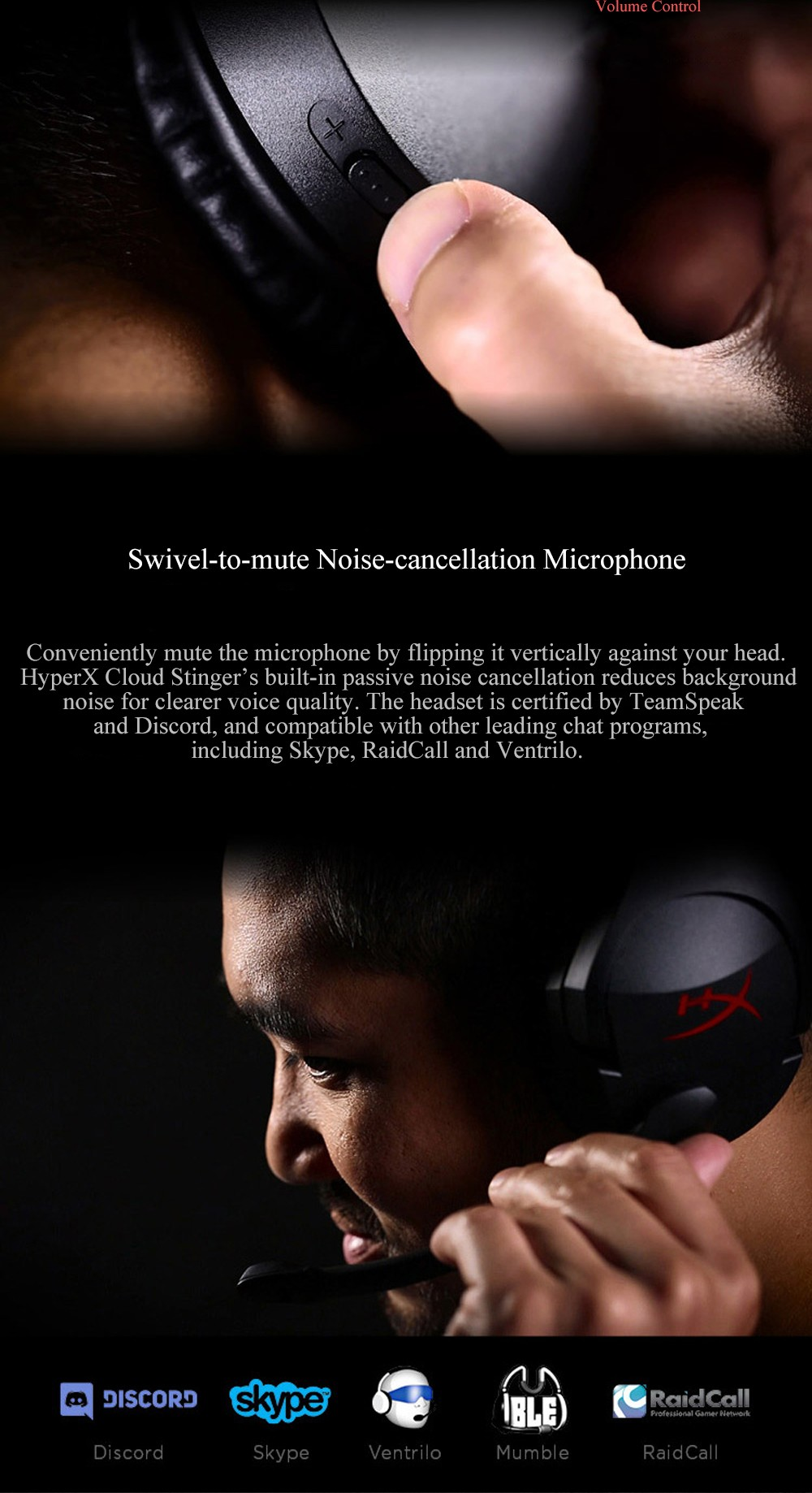 Kingston HyperX Cloud Stinger Auriculares Headphone Steelseries Gaming Headset with Microphone Mic For PC PS4 Xbox Mobile Device (8)