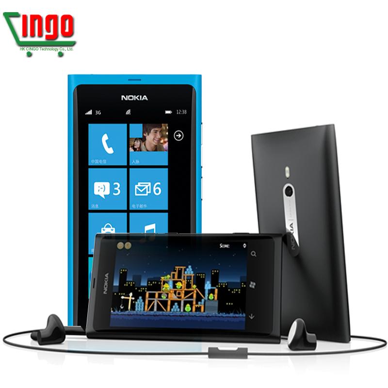 "Original Nokia Lumia 800 16GB 3.7""AMOLED 3G GPS WIFI 8MP Windows phone 7.5 Unlocked Factory Refurbished(China (Mainland))"