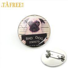 TAFREE Molto Bad Dog Serie Spilla fresco divertente animali Spilli charming Rhodium Placcato inviare per gli uomini le donne grande regalo dei monili a261(China)