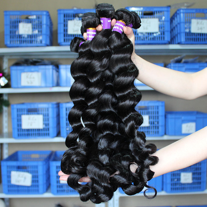 6A Unprocessed Burmese Virgin Hair Loose Wave 3Pcs/lot 100% Human Hair Weaves Sunny Queen Hair Products free shipping<br><br>Aliexpress