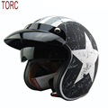 free shipping tanked racing 3 4 open face vintage motorcycle helmet retro scooter helmet