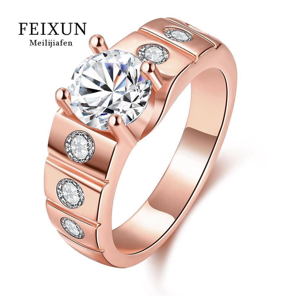 R123-B-8 High Quality Nickle Free Antiallergic New Fashion Jewelry 18K Plated zircon Ring(China (Mainland))