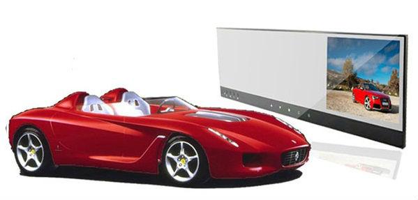 Rear view mirror car DVR HD720P Camera record with 2avin 4.3inch screen display(China (Mainland))