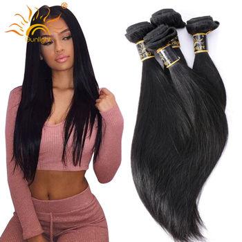 Brazilian Virgin Hair Straight 100% Human Hair Weaving 4 Bundles Straight Brazilian Hair Sunlight Queen Brazillian Straight Hair