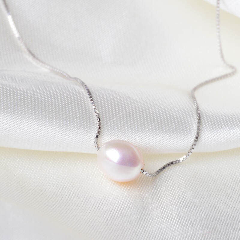Natural-freshwater-pearl-necklace-with-925-sterling-silver-pendant-necklace-for-women-real-Natural-pearl-jewelry