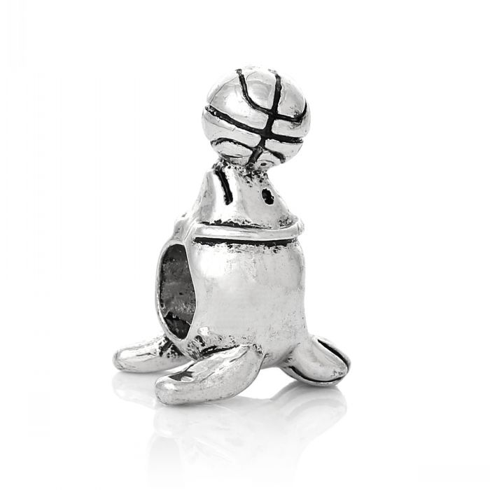 Dorabeads European Beads Ocean Sea lion Balancing Ball Antique Silver About 19.0mm x 13.0mm,Hole:Approx 5.1mm,10 PCs(China (Mainland))