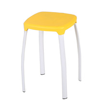 Set of 10 Piecces Plastic Square Stool Creative Household Fashion Shoes Thickening Chair Home Furniture Modern Leisure Chair (China (Mainland))