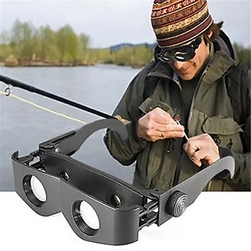 Black Portable ABS Material Glasses Style Fishing Telescope Magnifier Binoculars For Outdoor Lake/Ocean Fishing L0766 P12 0.5(China (Mainland))