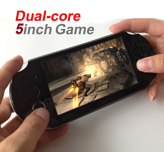 New 8GB 5.0 inch touch screen game player console Dual-core + android4.2 wireless WIFI tablet pc Function games +2 camera(China (Mainland))