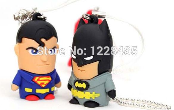 Bestselling Batman /super man/Captain America usb flash drive 4GB 8GB 16GB 32GB usb flash memory stick pen drive 5% off S23(China (Mainland))